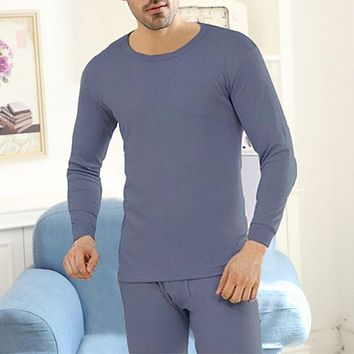 2018 tshirt Men 2 Pieces Hot Pajamas Winter Long johns Thin Thermal Underwear Sets Keep Warm for Russia Canada and Europe Men