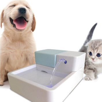 High Quality 1.8L LED AUTOMATIC CAT DOG KITTEN WATER DRINKING FOUNTAIN PET BOWL DRINK DISH FILTER
