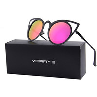 Sunglasses Round Metal Cut-Out Flash Mirror Lens