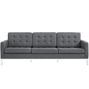 Loft Fabric Sofa Gray