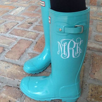 Set of 2 Rainboot Monograms