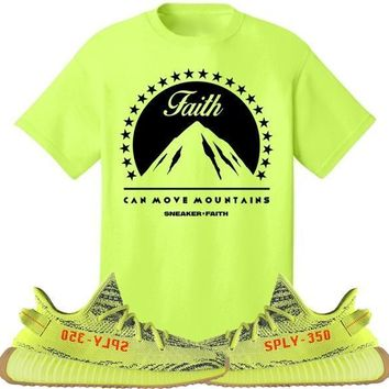 MOVE MOUNTAINS Sneaker Tees Shirt to Match - Yeezy 350 Boost Frozen Yellow