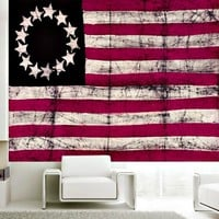 Vintage American Flag Wall Beach Bed Table Tapestry