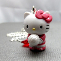 I LOVE VolleyBall Hello Kitty Necklace // by boxofcutestuff