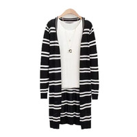 Women Summer Autumn Fashion Striped Knit Cardigan = 1958388484