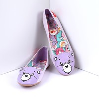 Lilac Vegan Leather Care Bears Stare Flats