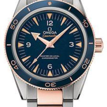 Omega - Seamaster 300 Omega Master Co-Axial 41 mm - Titanium and Sedna Gold