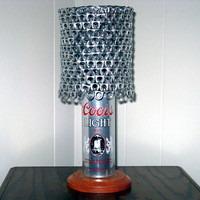 "Vintage Coors Light ""The Silver Bullet"" Beer Can Lamp With Pull Tab Lampshade - The Mancave Essential"