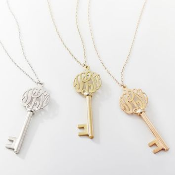Monogram Key Pendant