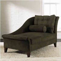 Chaise Lounge - Olive by Klaussner - Mahogany Finish (270LCHASEKLAUOLIVE)