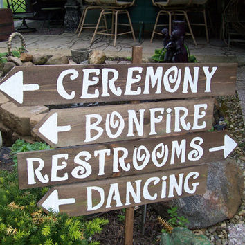 Wedding Signs Decorationscountry Weddings Custom Personalizied Signrustic