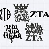 Zeta Tau Alpha Sticker ZTA Decal ZTA Sticker ZTA Sticker Pack Zeta Laptop Sticker Zeta Car Decal Zeta Yeti Cup Decal