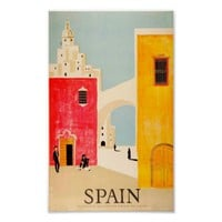 Spain vintage travel ad retro poster