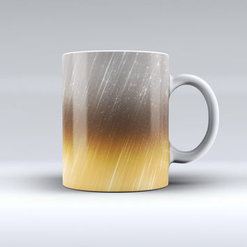 The Scratched Gold and Silver Surface ink-Fuzed Ceramic Coffee Mug