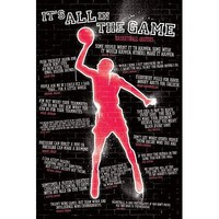 It's All in The Game Basketball Quotes Poster, 24 by 36-Inch