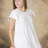 Short Sleeve Short Gown Lace Collection | Simple Pleasures, Inc.