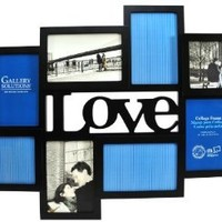 Gallery Solutions Black 3D Love Collage Frame with 8 Openings: Home & Kitchen
