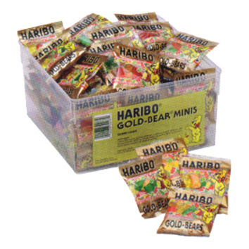 Haribo Gummi Gold Bears 1/2-Ounce Packs: 72-Piece Tub