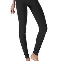 Yoga Reflex Women's Breathable Active Workout Yoga Leggings Pants Hidden Pocket