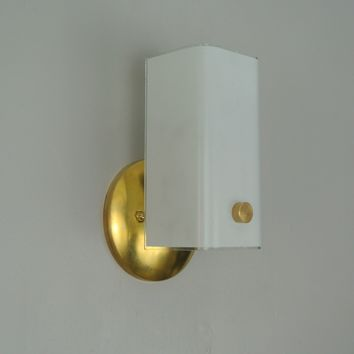 Brass Channel Glass Wall Sconce