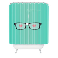 Nicole Martinez Spectacles Shower Curtain