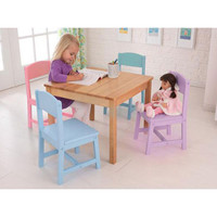 KidKraft 21215 Seaside Kids Natural Table and Four-Chair Set