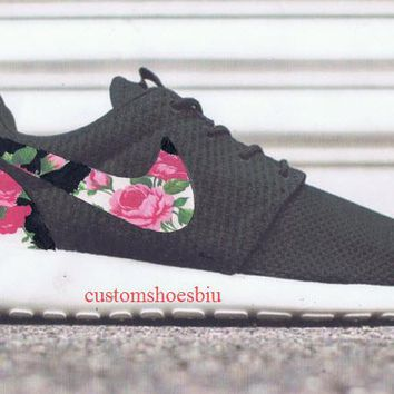 Shop Nike Roshe Black Roses on Wanelo fce38304b
