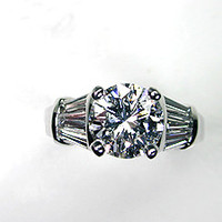 3.35ct Round Diamond Engagement Ring GIA certified JEWELFORME BLUE