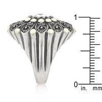 Antique Silver Crest Ring Ii, size : 07