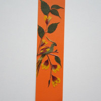 "Handmade unique bookmark ""The ability to adapt"" - Pressed flowers bookmark - Unique gift - Paper bookmark - Original art collage."