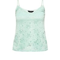 Mint Green Floral Lace Cami