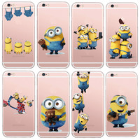Latest Silicon Cover Despicable Me Yellow Minion Case For Apple iPhone 5 5s/6 6s Soft Clear Phone Cases Shell