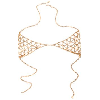 Fashion bikini new retro exaggerated waist chain body chain