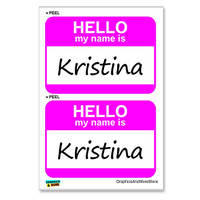Kristina Hello My Name Is - Sheet of 2 Stickers