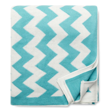 Amity Home Chevron Throw Blanket - Blue