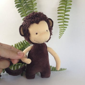 monkey doll toy, year of monkey, waldorf doll, animal toy, waldorf miniature artdoll, guardian, ready to ship
