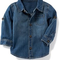 Denim Roll-Sleeve Shirt for Baby | Old Navy