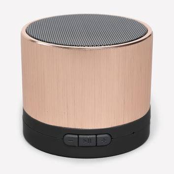 bebe Womens Metallic Portable Speaker Rose Gold