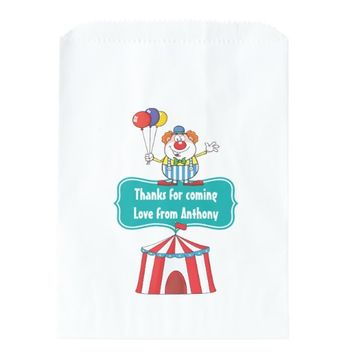 Kids Circus Party Personalized Favor Bags