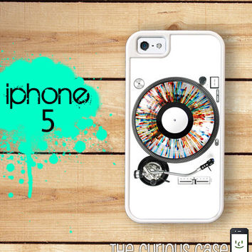iPhone 5 Mighty Case - DJ Turn Table Record Rainbow - 2 Part Protective iPhone 5 Case