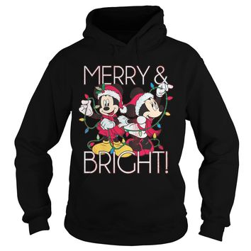 Disney Mickey Mouse Merry and Bright Christmas sweater Hoodie