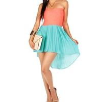 Pink/Blue Rubber Band Bodice Dress