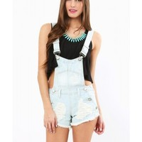 On The Edge Overall Shorts