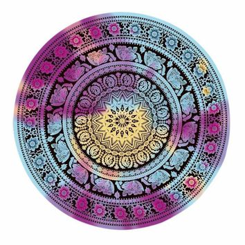 Yoga / Meditation Multicolor Round  Blanket