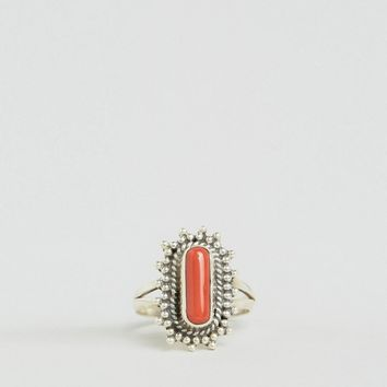 Rock N Rose Orelia Coral Ring at asos.com