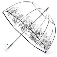 Clear Bubble Stick Umbrella, City
