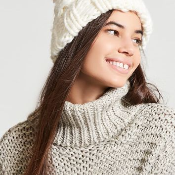 Chunky Cable-Knit Beanie