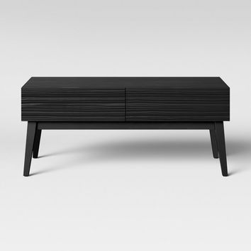 Palmetto Cut and Groove Coffee Table Black - Opalhouse™