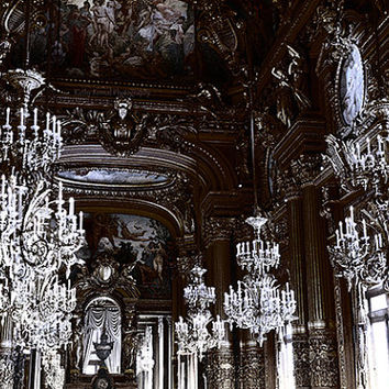 Paris Photography, Opera Palais Garnier Chandeliers, Paris Opera House Chandelier, Paris Opera Opulent Elegant Chandelier, Parisian Photos