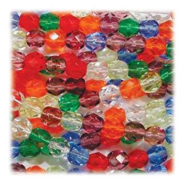 FPR03MIX16 - Czech Glass Fire Polish Beads, Rainbow, 3mm | Pkg 1 Strand